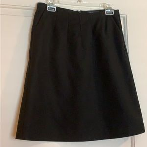 Banana Republic black a-line suit skirt